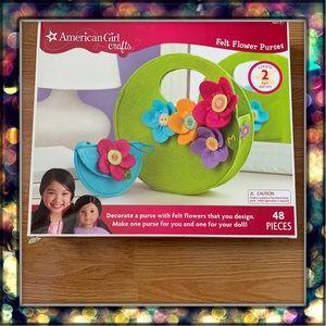 [American Girl] Crafts Felt Flower Purses